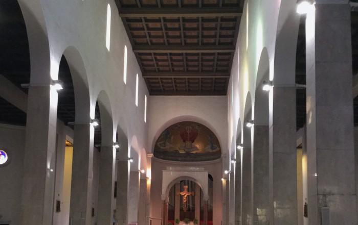 Illuminazione a LED nella chiesa di S. Paolino a Viareggio